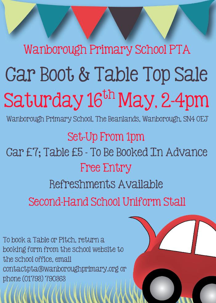 Wanborough Primary School Car Boot Sale